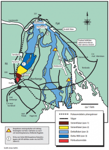 Karta Bergeforsfisket